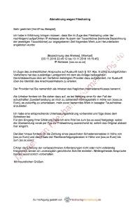 muster fr eine abmahnung - Strafbewehrte Unterlassungserklarung Muster